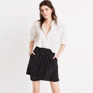 Madewell 100% Silk Dot Scatter Mini Skirt